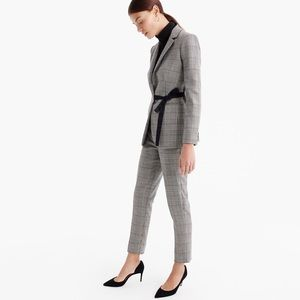 J. Crew suit set tie front blazer cropped pants